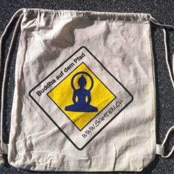Ökobaumwoll-Rucksack «Buddha auf dem Pfad!»